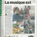 عکس استاد نجف پور در روزنامه غرب فرانسه